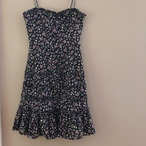 Vintage Betsey Johnson Floral Ruffle Dress. Size 4